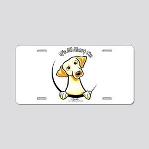 Yellow Lab IAAM Aluminum License Plate