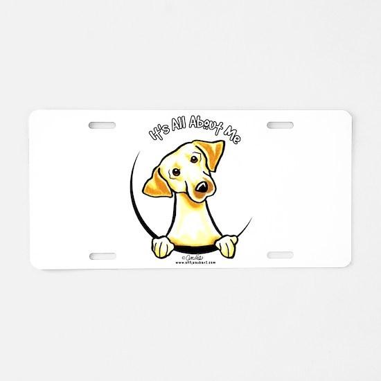 Yellow Lab IAAM Aluminum License Plate