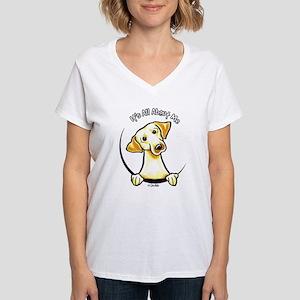 Yellow Lab IAAM Women's V-Neck T-Shirt