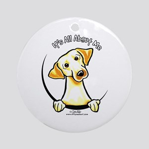 Yellow Lab IAAM Ornament (Round)