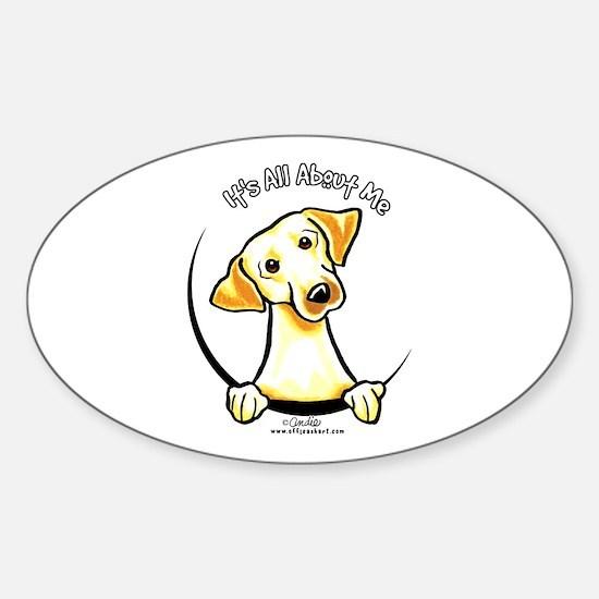 Yellow Lab IAAM Sticker (Oval)