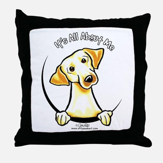 Yellow Lab IAAM Throw Pillow