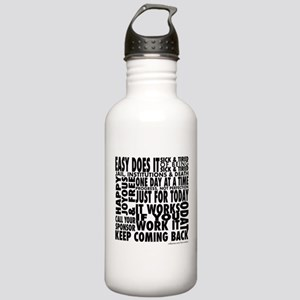 Recovery Slogans Water Bottle