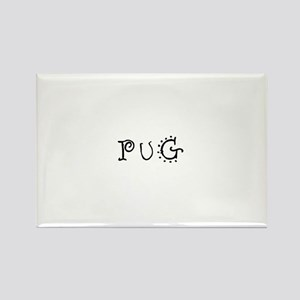Pug Rectangle Magnet