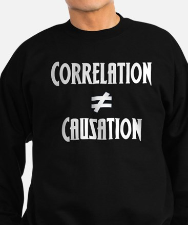 Correlation Causation Sweatshirt (dark)