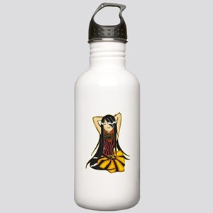 Relaxing Teenage Girl Stainless Water Bottle 1.0L