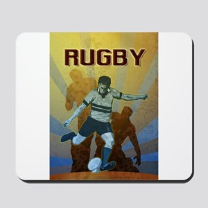 rugby player kicking Mousepad