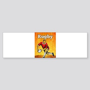 rugby player passing ball Sticker (Bumper)