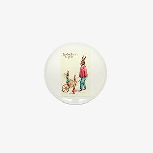 Vintage Easter Card Mini Button