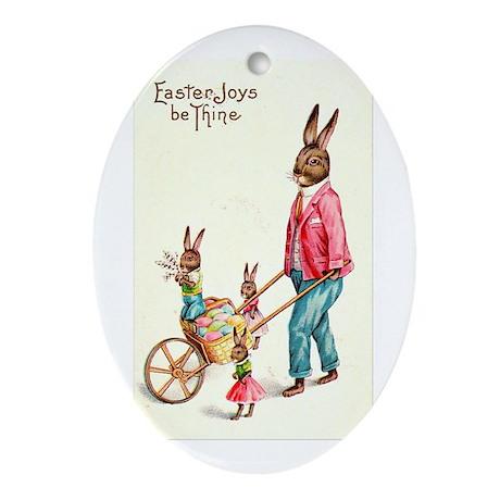 Vintage Easter Card Ornament (Oval)