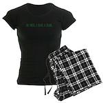 Be Nice. I Have A Blog. Women's Dark Pajamas