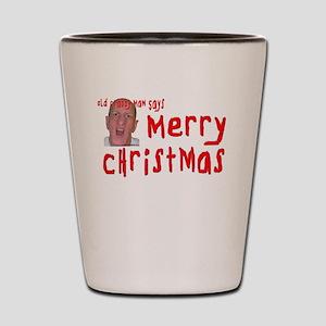 Crabby Christmas Shot Glass