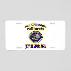 San Clemente Fire Aluminum License Plate