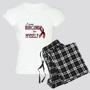 Wear Burgundy - Myself Women's Light Pajamas