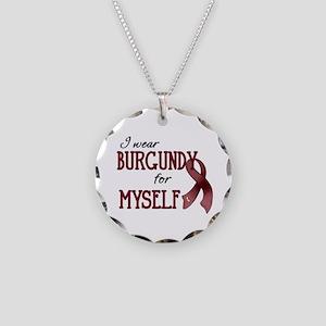 Wear Burgundy - Myself Necklace Circle Charm