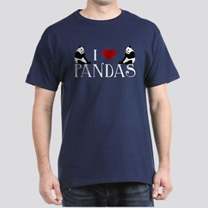 I Heart Pandas Dark T-Shirt
