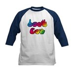 Rainbow DEAF CAN Kids Baseball Jersey