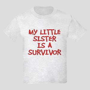 My Little Sister is a Survivor Kids Light T-Shirt