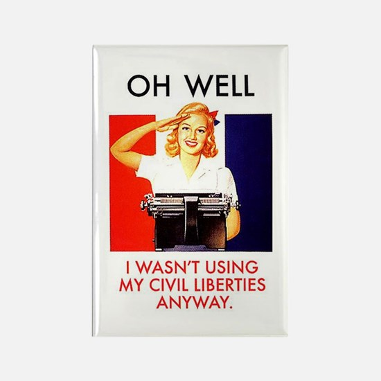 Civil Liberties Rectangle Magnet