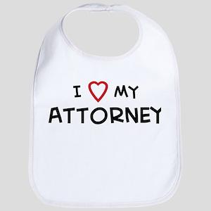 I Love Attorney Bib