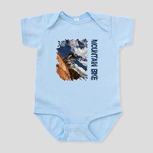Mountain Bike Blue Sky Infant Bodysuit