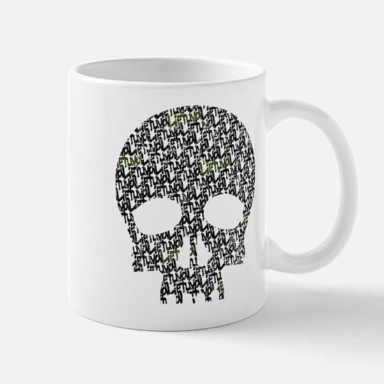 Lietuva Distressed Skull Pattern Mug