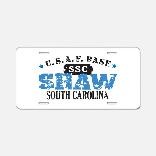 Shaw Air Force Base Aluminum License Plate