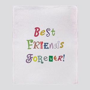 Best Friends Forever Throw Blanket
