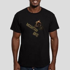 Mountain Bike Downhill Men's Fitted T-Shirt (dark)