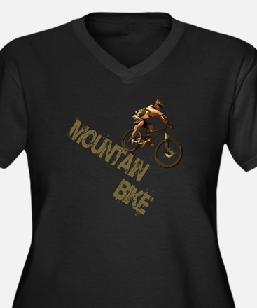 Mountain Bike Downhill Women's Plus Size V-Neck Da