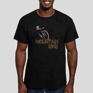 Mountain Bike Men's Fitted T-Shirt (dark)