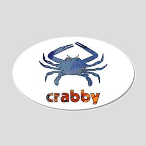Crabby 22x14 Oval Wall Peel