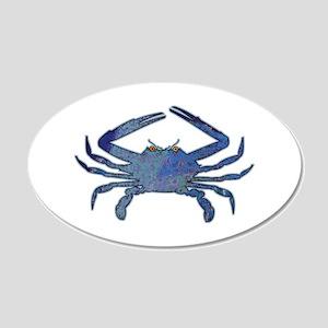 Blue Crab 22x14 Oval Wall Peel
