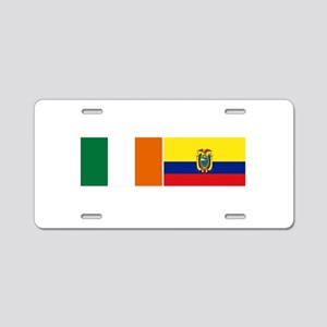 Irish Ecuadorian heritage fla Aluminum License Pla