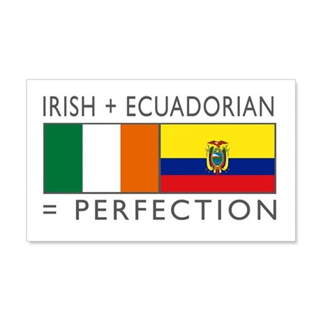 Irish Ecuadorian heritage fla 22x14 Wall Peel