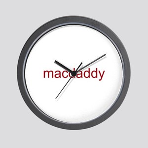 macdaddy red Wall Clock