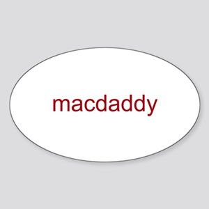 macdaddy red Sticker (Oval)