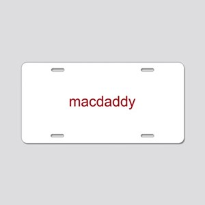 macdaddy red Aluminum License Plate