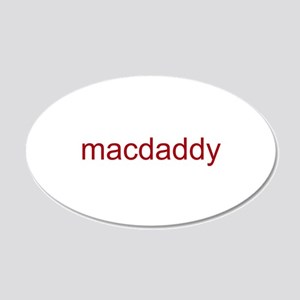 macdaddy red 22x14 Oval Wall Peel