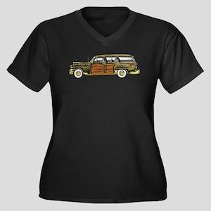 Classic Woody Station wagon Women's Plus Size V-Ne