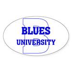 Blues University Sticker (Oval)