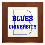 Blues University Framed Tile