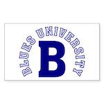 Blues University Sticker (Rectangle)