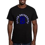 Blues University Men's Fitted T-Shirt (dark)