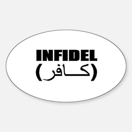 INFIDEL Sticker (Oval)