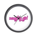NAUGHTY GIRL Wall Clock