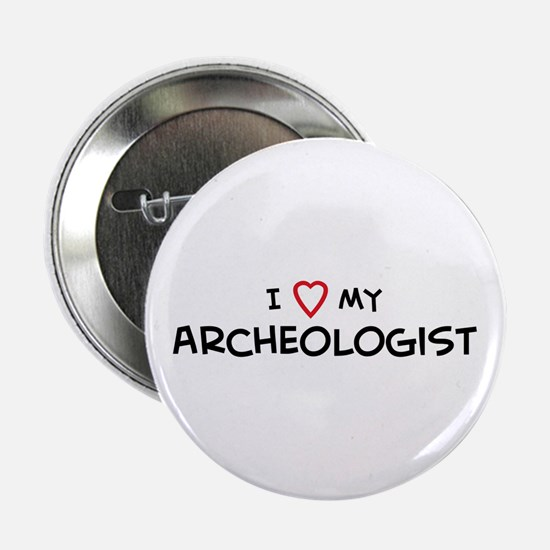 I Love Archeologist Button