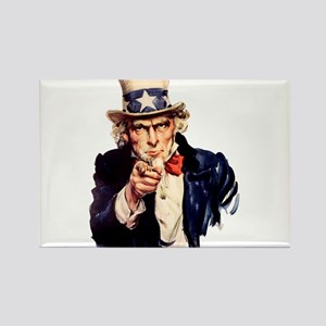 Uncle Sam: WE WANT YOU Rectangle Magnet