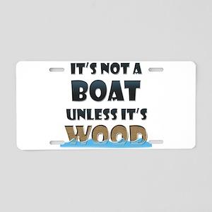 Wood Boat Aluminum License Plate
