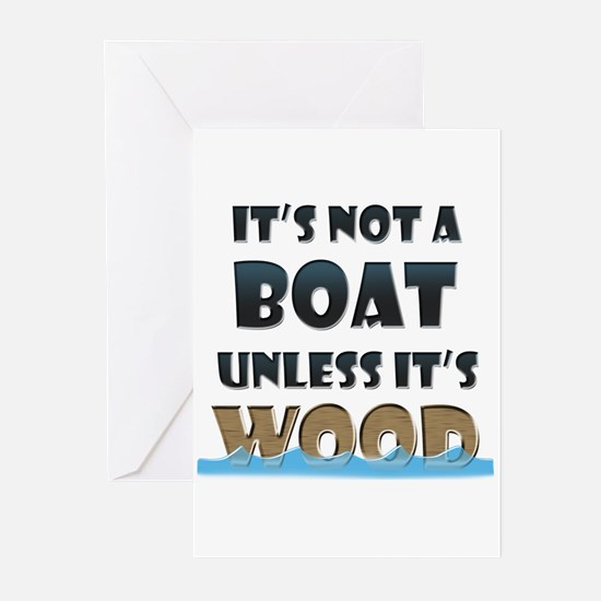 Wood Boat Greeting Cards (Pk of 20)